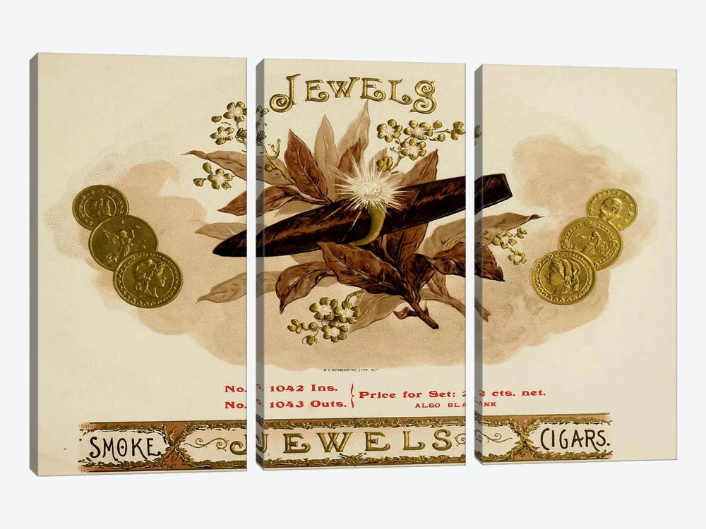Jewels by Vintage Apple Collection 3-piece Canvas Print