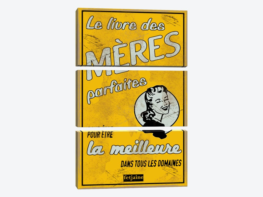 Meres by Vintage Apple Collection 3-piece Canvas Print