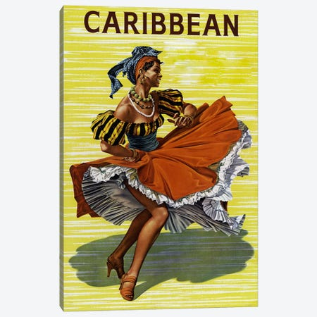 Carribean #2 Canvas Print #VAC66} by Vintage Apple Collection Canvas Artwork