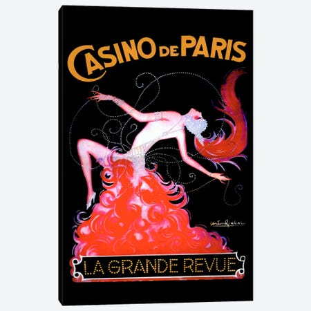 Casino de Paris Canvas Print #VAC68} by Vintage Apple Collection Canvas Print