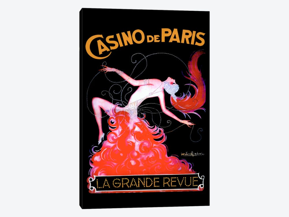 Casino de Paris by Vintage Apple Collection 1-piece Canvas Print