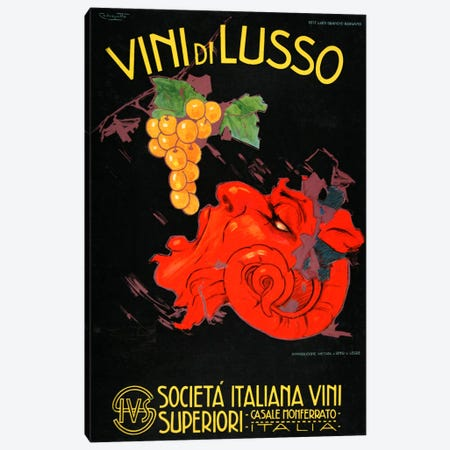 Vini Di Lusso Canvas Print #VAC696} by Vintage Apple Collection Art Print