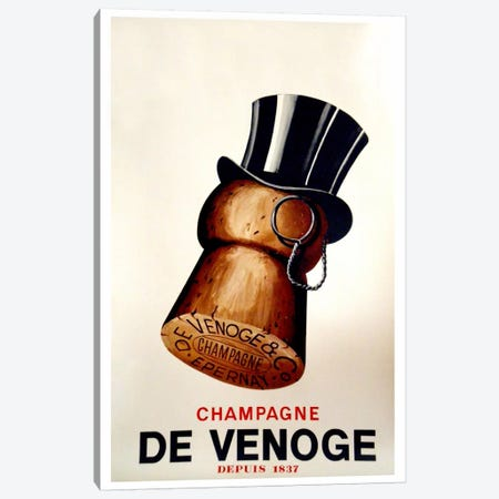 Champagne Cork Canvas Print #VAC69} by Vintage Apple Collection Canvas Art Print