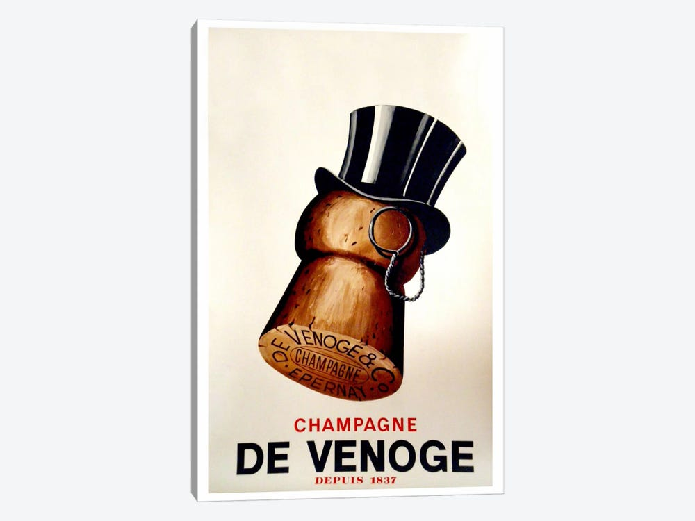 Champagne Cork by Vintage Apple Collection 1-piece Canvas Art