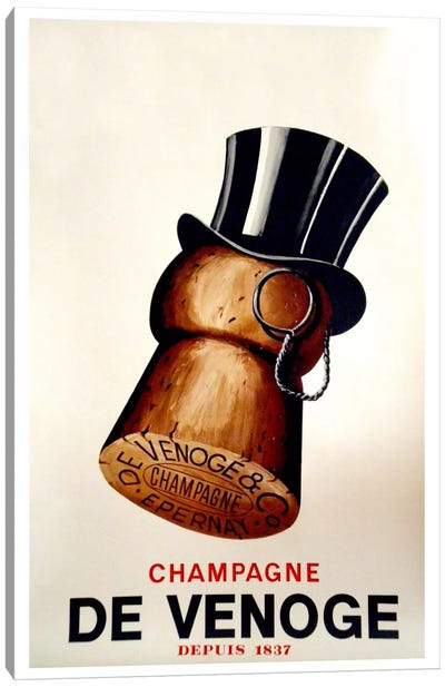 Champagne Cork Canvas Art Print