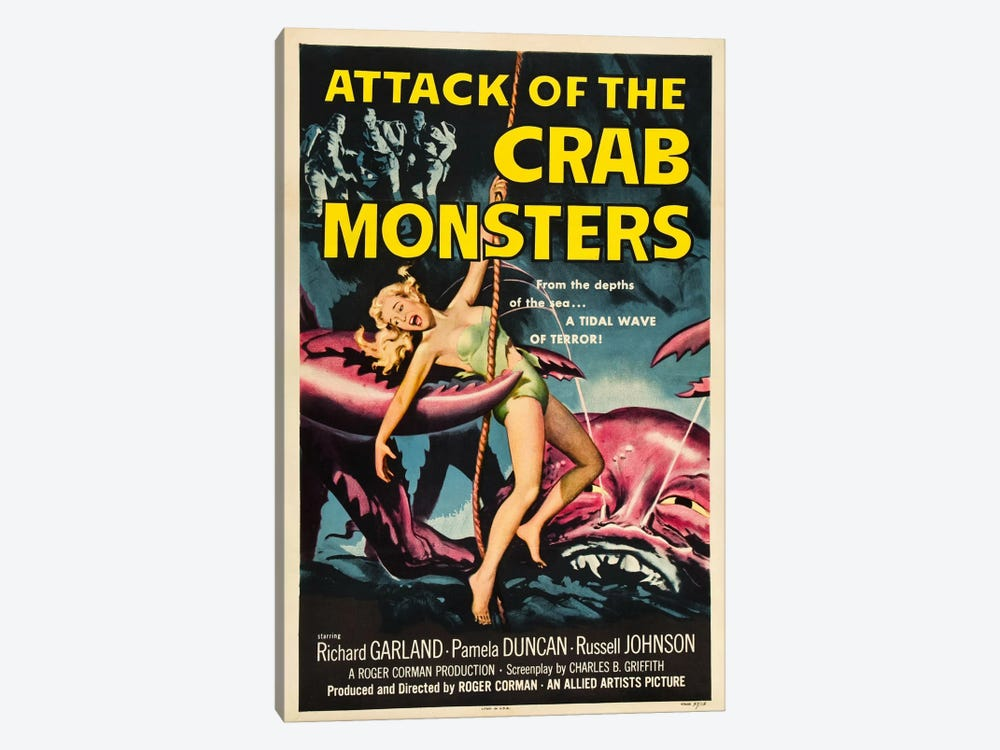 Crab Monsters by Vintage Apple Collection 1-piece Canvas Wall Art