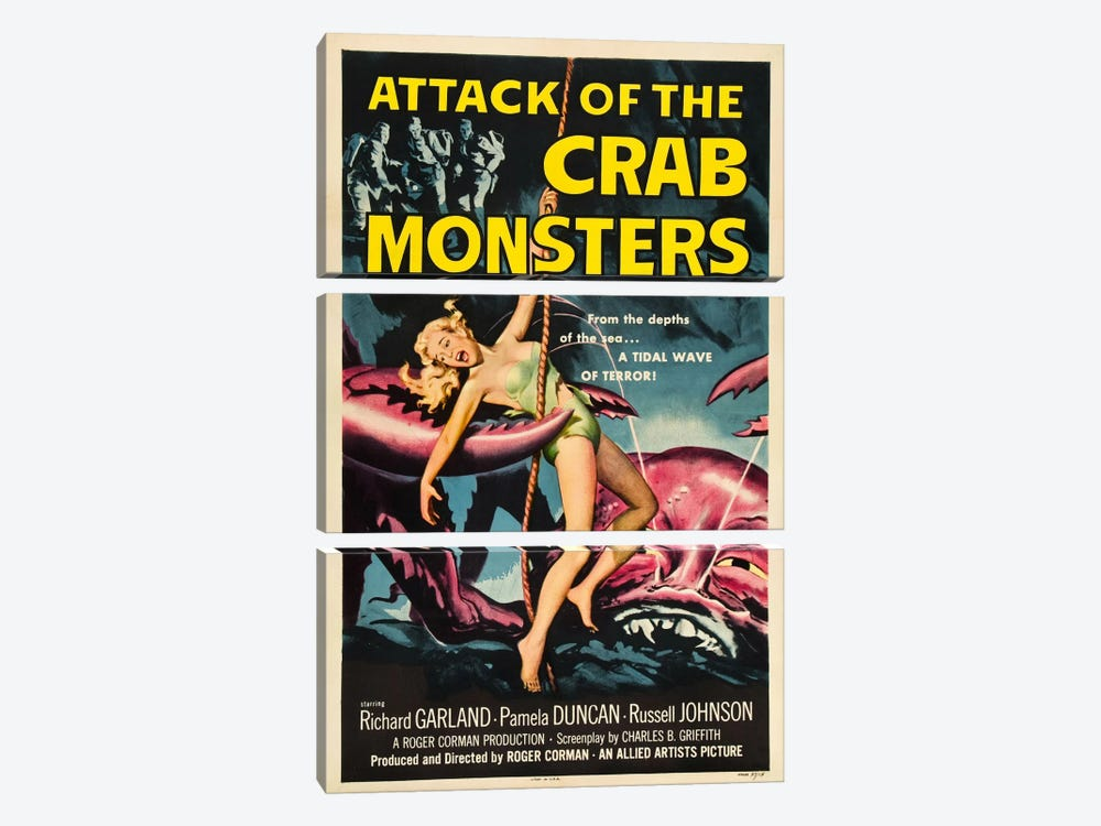 Crab Monsters by Vintage Apple Collection 3-piece Canvas Art