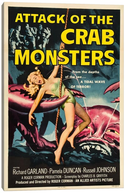 Crab Monsters Canvas Art Print
