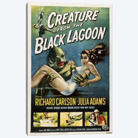 Creature from the Black Lagoon Canvas Print #VAC706} by Vintage Apple Collection Canvas Print
