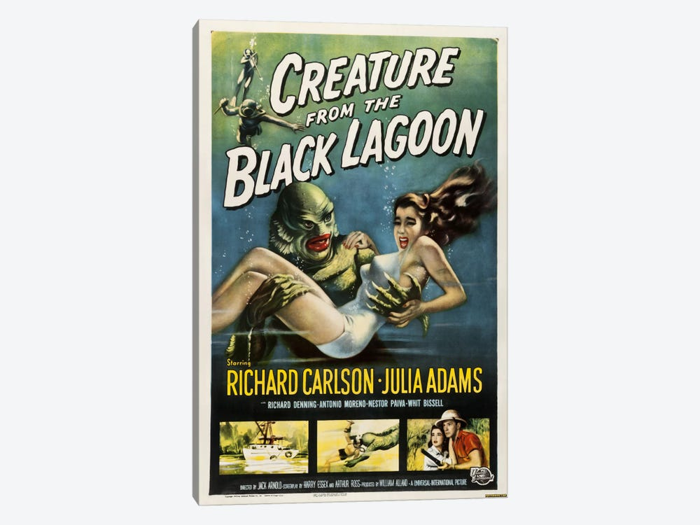 Creature from the Black Lagoon by Vintage Apple Collection 1-piece Canvas Art Print