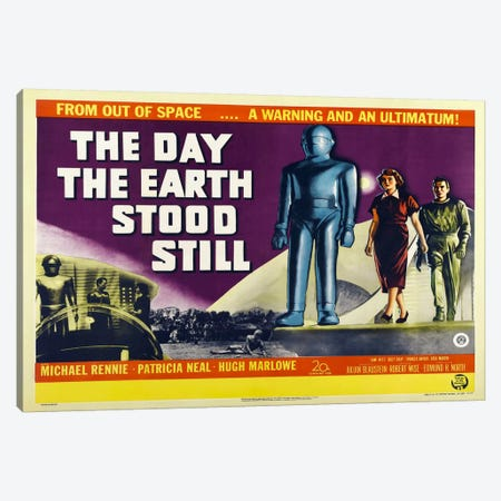Day Earth Stood Still Canvas Print #VAC707} by Vintage Apple Collection Art Print