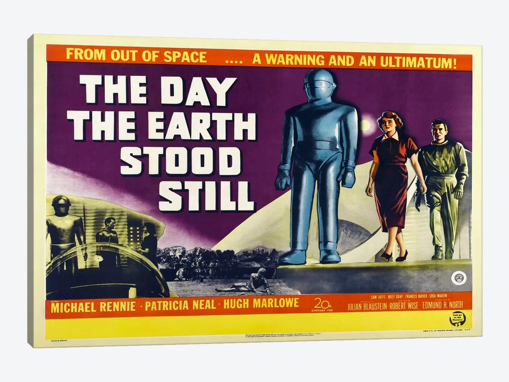 Day Earth Stood Still by Vintage Apple Collection 1-piece Canvas Art