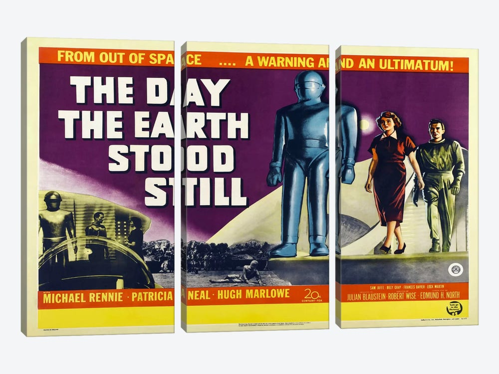 Day Earth Stood Still 3-piece Canvas Artwork