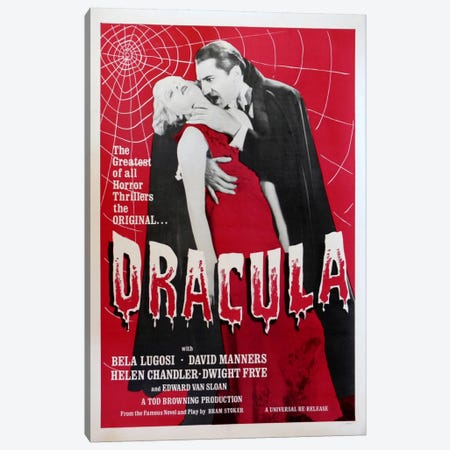 Dracula Canvas Print #VAC709} by Vintage Apple Collection Canvas Wall Art