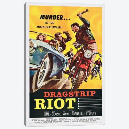 Dragstrip Riot Canvas Print #VAC710} by Vintage Apple Collection Canvas Art Print