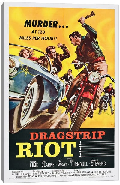 Dragstrip Riot Canvas Art Print