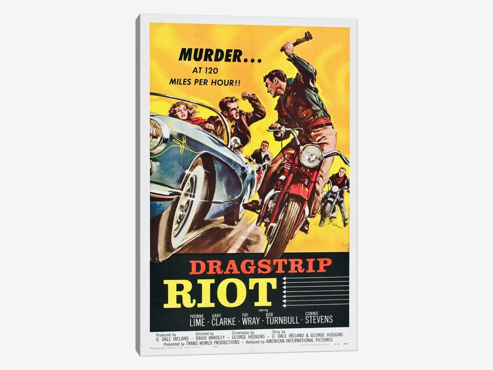 Dragstrip Riot by Vintage Apple Collection 1-piece Canvas Wall Art