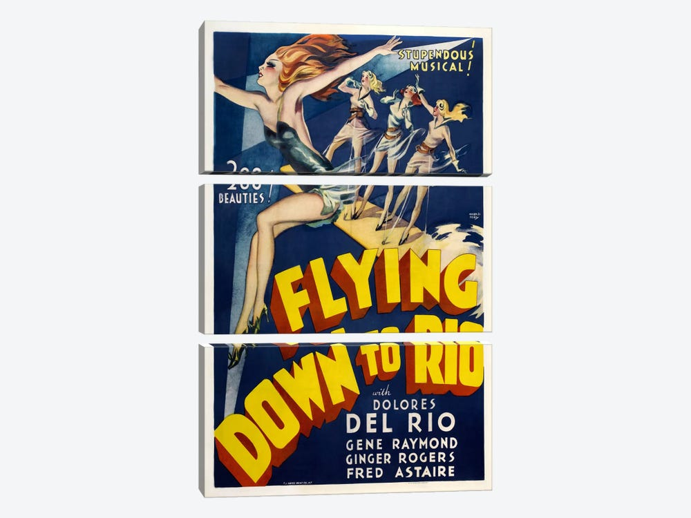 Flying Down To Rio by Vintage Apple Collection 3-piece Canvas Artwork