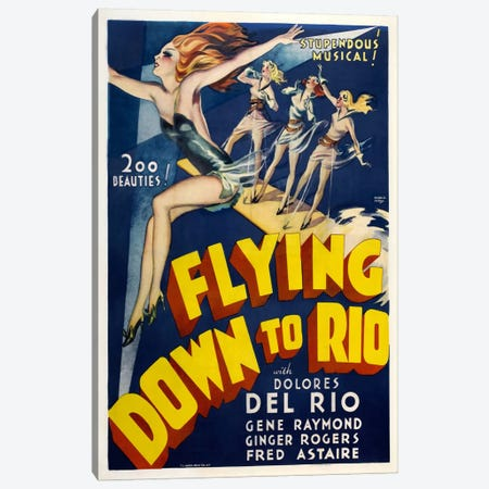 Flying Down To Rio Canvas Print #VAC712} by Vintage Apple Collection Art Print