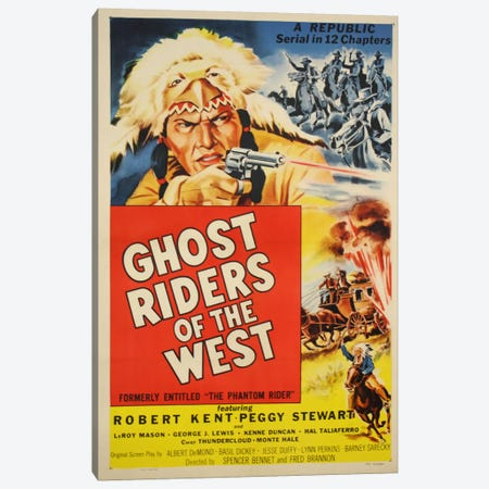Ghost Riders of the West Canvas Print #VAC714} by Vintage Apple Collection Canvas Artwork