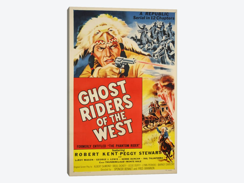 Ghost Riders of the West by Vintage Apple Collection 1-piece Canvas Wall Art