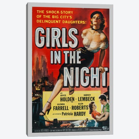 Girls in the Night Canvas Print #VAC715} by Vintage Apple Collection Canvas Wall Art