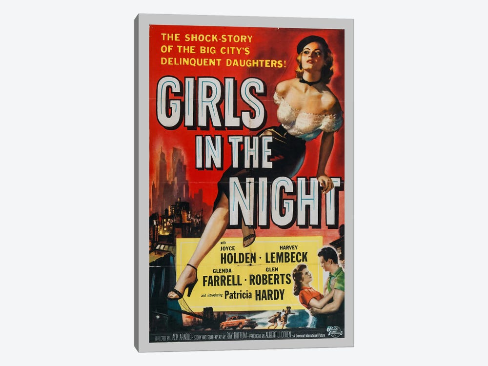 Girls in the Night by Vintage Apple Collection 1-piece Canvas Print