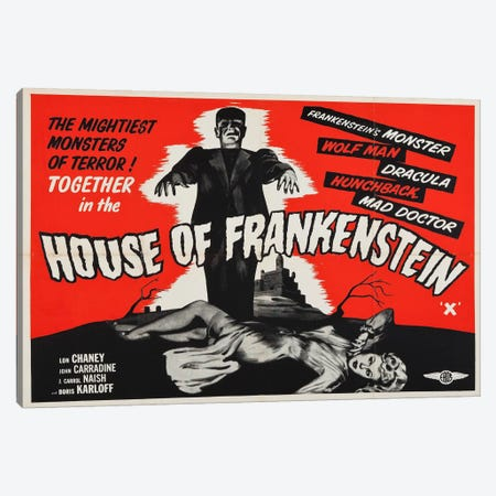 House of Frankenstein Canvas Print #VAC719} by Vintage Apple Collection Canvas Print