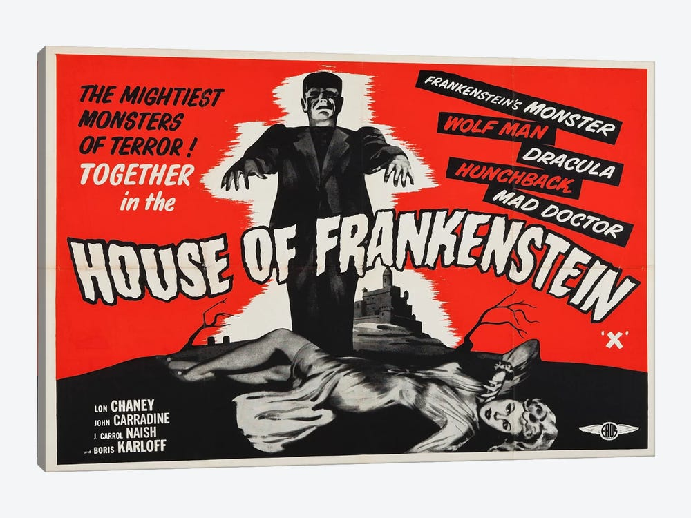 House of Frankenstein by Vintage Apple Collection 1-piece Art Print