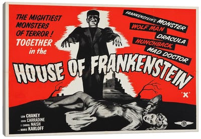 House of Frankenstein Canvas Art Print