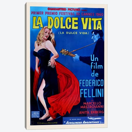 La Dolce Vita Canvas Print #VAC722} by Vintage Apple Collection Canvas Art
