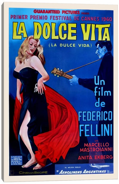 La Dolce Vita Canvas Art Print