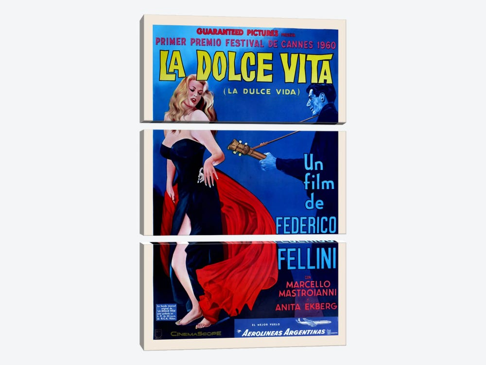 La Dolce Vita by Vintage Apple Collection 3-piece Art Print