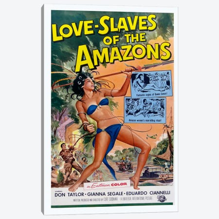 Love Slaves of the Amazons Canvas Print #VAC723} by Vintage Apple Collection Canvas Art