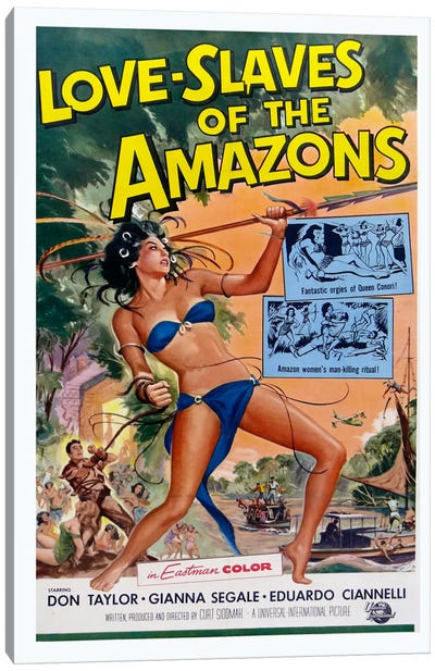 Love Slaves of the Amazons Canvas Print #VAC723