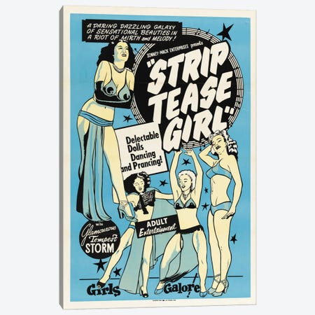 Striptease Girl Canvas Print #VAC725} by Vintage Apple Collection Canvas Print