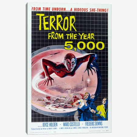 Terror from the Year 5000 Canvas Print #VAC728} by Vintage Apple Collection Canvas Wall Art