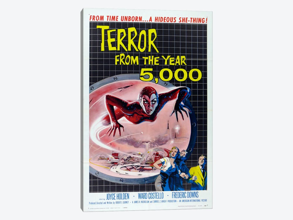 Terror from the Year 5000 by Vintage Apple Collection 1-piece Canvas Art Print