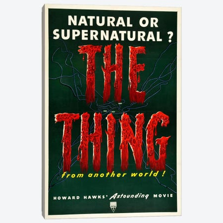 The Thing Canvas Print #VAC729} by Vintage Apple Collection Canvas Art