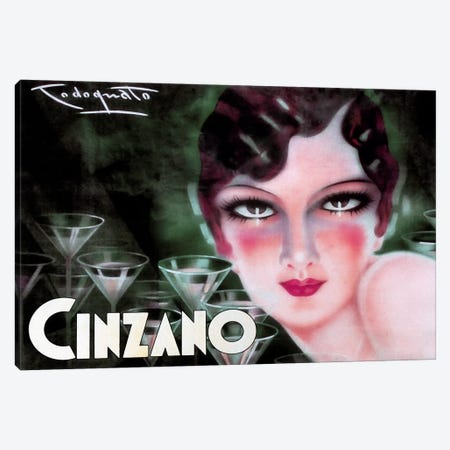 Cinzano Canvas Print #VAC72} by Vintage Apple Collection Canvas Wall Art