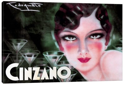 Cinzano Canvas Art Print