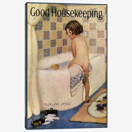 Good Housekeeping I Canvas Print #VAC737} by Vintage Apple Collection Canvas Artwork