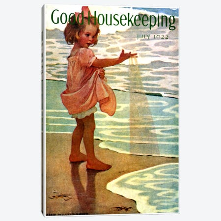Good Housekeeping II Canvas Print #VAC738} by Vintage Apple Collection Art Print