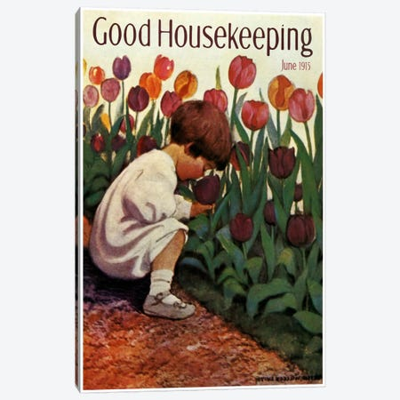 Good Housekeeping III Canvas Print #VAC739} by Vintage Apple Collection Canvas Art Print