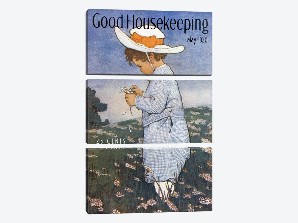 Good Housekeeping IV by Vintage Apple Collection 3-piece Canvas Art Print