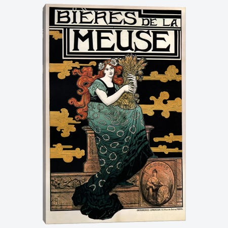 1896 Bieres de La Meuse Canvas Print #VAC741} by Vintage Apple Collection Canvas Wall Art