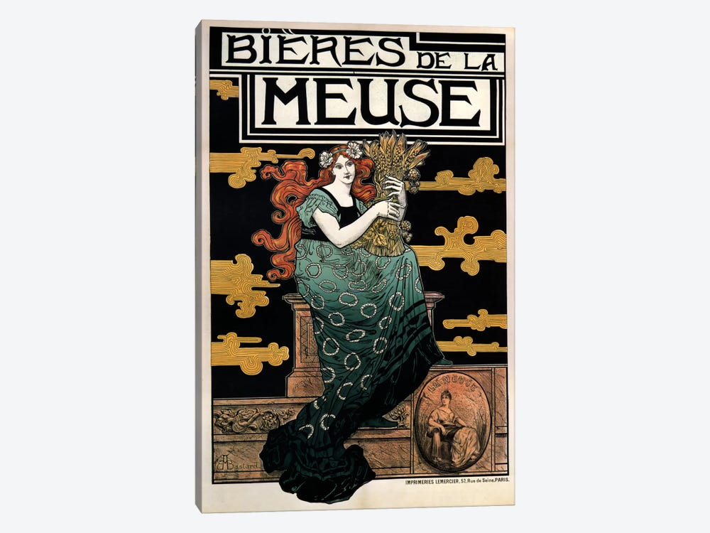 1896 Bieres de La Meuse by Vintage Apple Collection 1-piece Canvas Artwork