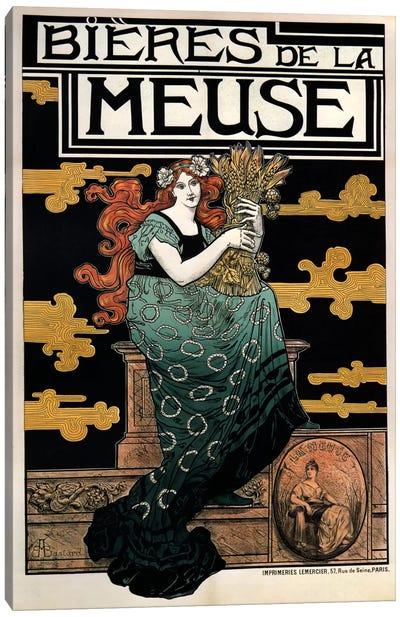 1896 Bieres de La Meuse Canvas Art Print