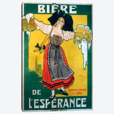 Biere Esperance Canvas Print #VAC744} by Vintage Apple Collection Art Print