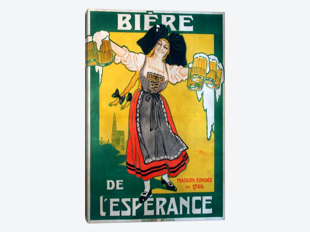 Biere Esperance by Vintage Apple Collection 1-piece Canvas Print